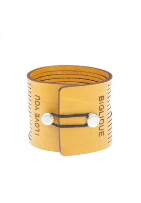 BRAZALETE LOVE YOU CABALLERO AMARILLO DET