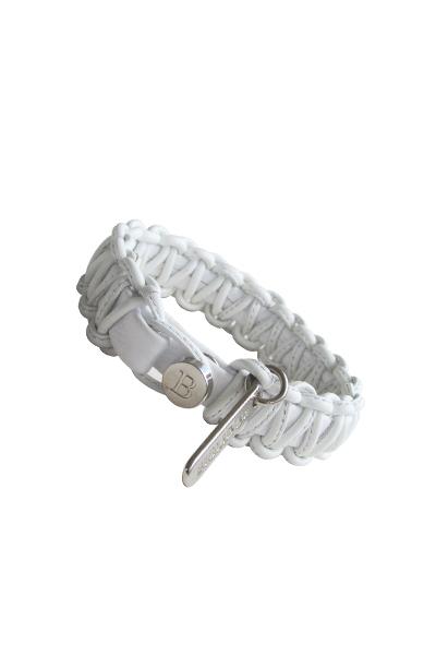 pulsera 016 trenzado blanco